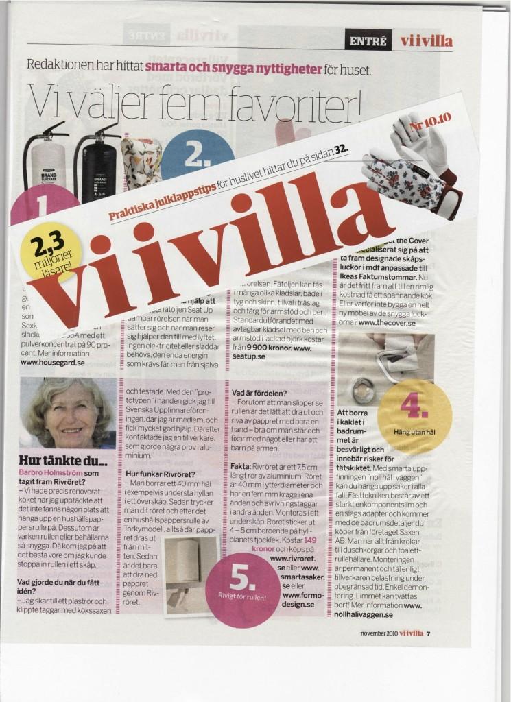 Artikel om Rivröret i Vi i villa